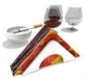 红酒,纸巾,烟灰缸3D模型