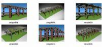 绿色走廊设计3D模型