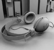 耳机,耳麦3D模型