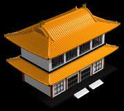 中式古代楼阁建筑3D模型