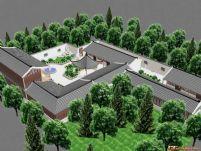 江南小院游戏场景模型