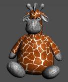小鹿玩具娃娃,儿童玩具3D模型