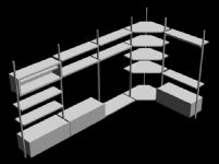 店铺展柜,展台3D模型