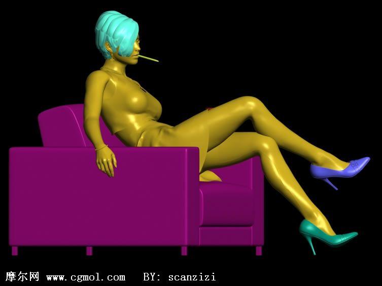 短发美女沙发上的美女美女沙发沙发的出模