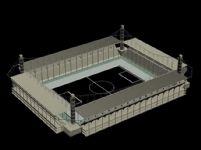 露天体育馆,体育场3D模型