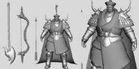 MAYA人物模型,将军和他的武器
