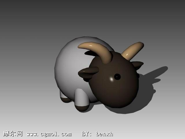 卡通羊3d模型,卡通角色