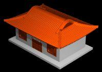 中式古代房屋建筑3D模型