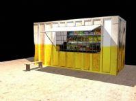 MAYA场景模型,路边的小商店模型