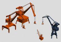 港口码头装卸起重机3D模型