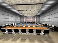 大型会议室,会议厅3D模型