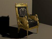 黄金老板椅3D模型
