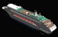 大型客轮模型,3D交通工具模型