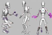 一个可爱的机器人,有骨骼,带简单的绑定的MAYA模型