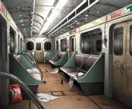 地铁内部场景3D模型