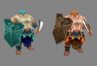 仙剑,去昆仑琼华派路上的怪,两个无头将3D模型