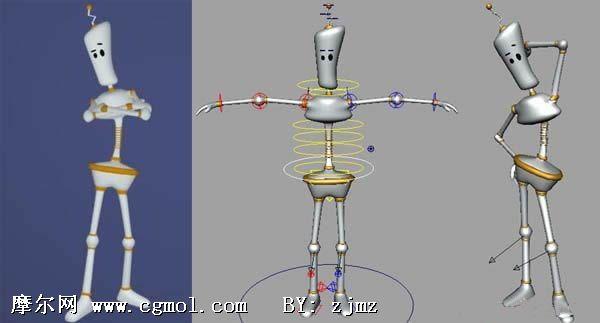 做好绑定的二足人偶maya模型 卡通角色 动画角色高清图片