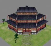 仙剑 陈州城 升平客栈建筑3D模型