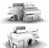 便利店,商店,店子3D模型