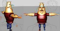 已做好绑定的可爱卡通人物MAYA模型,带控制器