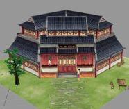 仙剑陈州城 酒楼 千门酒坊场景3D模型