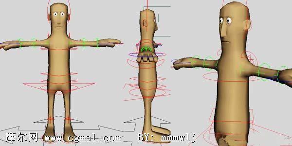 可爱的木头人,maya绑定练习模型