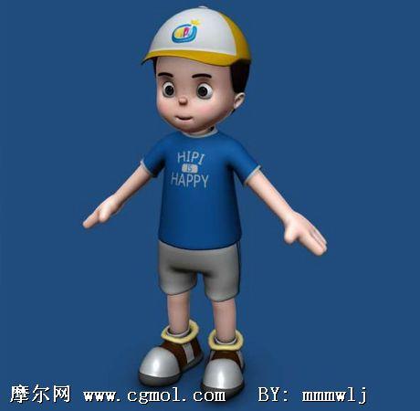 可爱的小孩 maya人物模型 高清图片