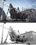 机器蚱蜢(带场景)3D模型