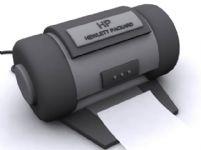 旧式HP惠普打印机3D模型