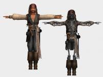 加勒比海盗 Jack sparrow,3D人物模型
