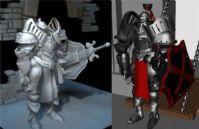 勇士,骑士卡通人物3D模型