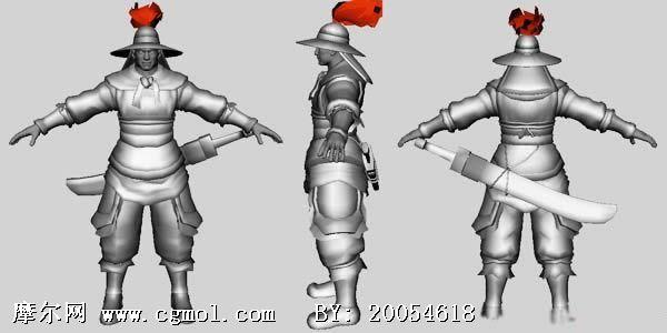 maya人物模型