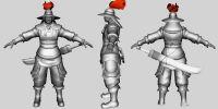 古代带刀士兵,MAYA人物模型