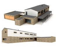 现代建筑,房屋3D模型