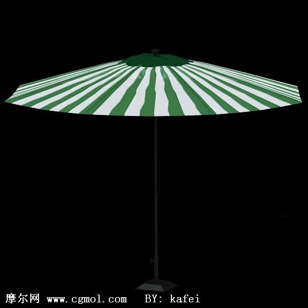 海滩遮阳伞3d模型