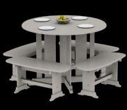 室外休憩桌椅3D模型