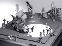 桌面杂物场景3D模型