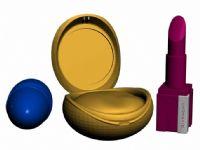 口红,胭脂化妆品3D模型