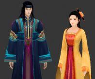 仙剑角色 厉江流和欧阳明珠3D模型