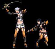 次时代3D游戏模型,最后遗迹七将军之双子四五将军的模型