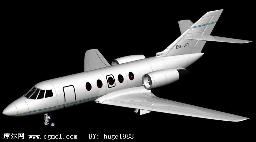 豪华私人飞机3d模型