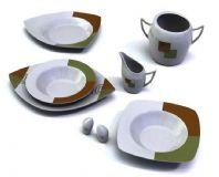 碟子,茶壶,菜碟家居用品3D模型
