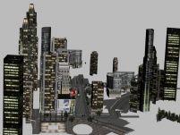 极品飞车游戏场景3D模型