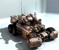 军事武装坦克3D模型