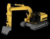 挖掘机3D模型