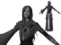 中国古代神话女性,MAYA人物模型