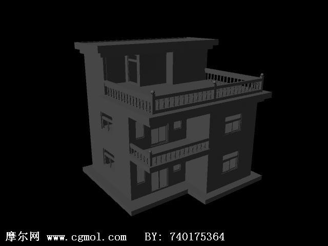 楼房3d模型高清图片