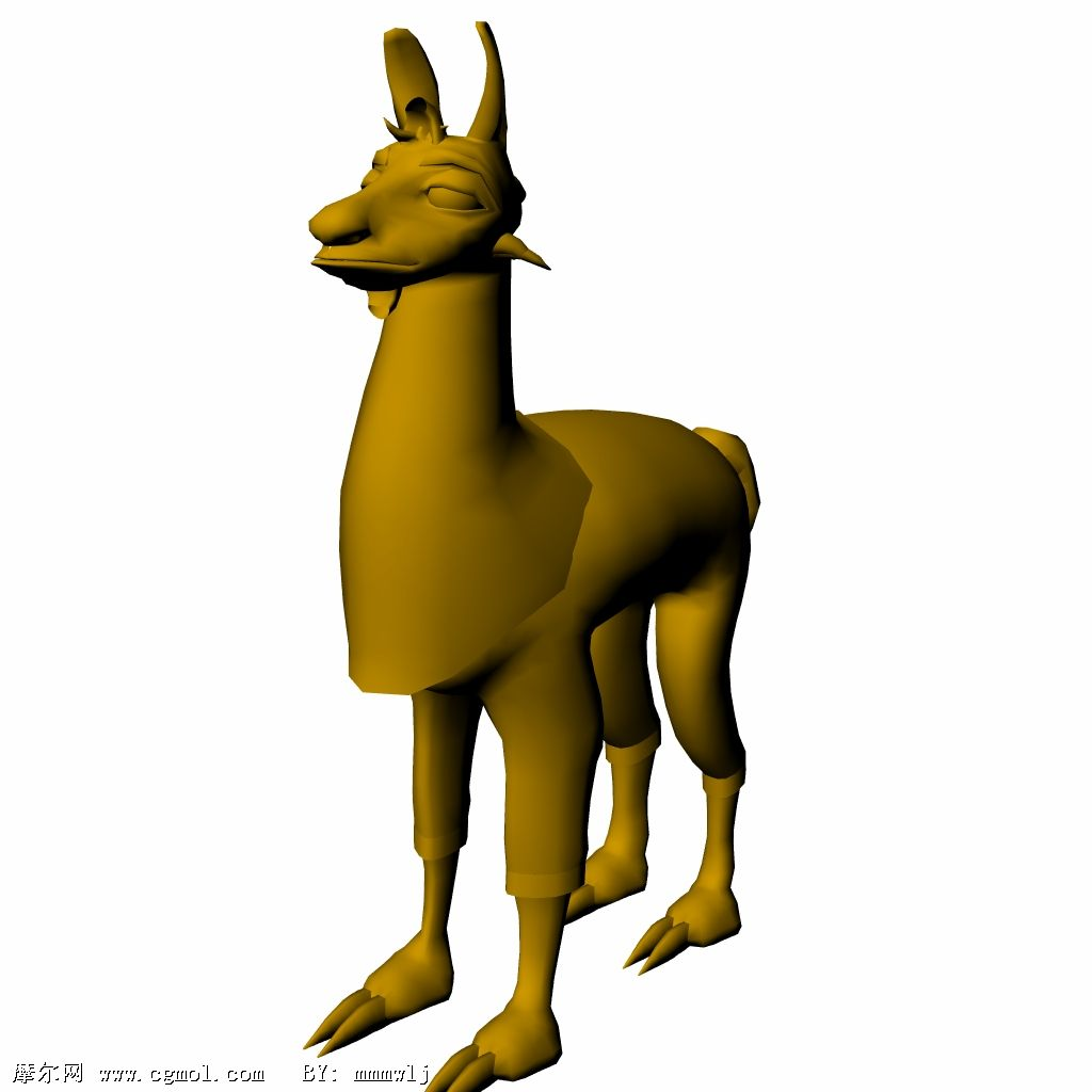 已绑定好的美洲驼3D模型
