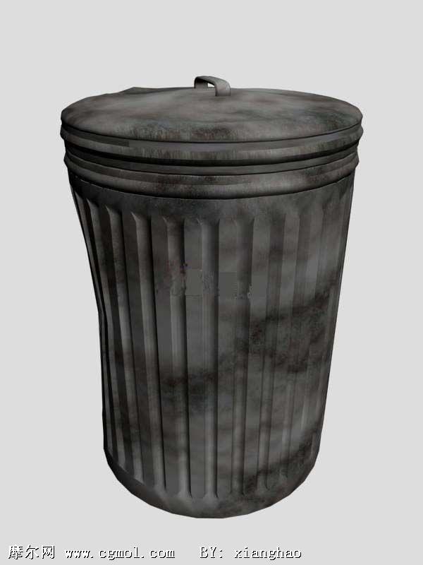 钻石牌卫浴_Trash Bin 破旧的垃圾桶3D模型_基础设施_建筑模型_3D模型免费下载 ...