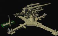 高精细德国二战期间用的大炮MAYA模型
